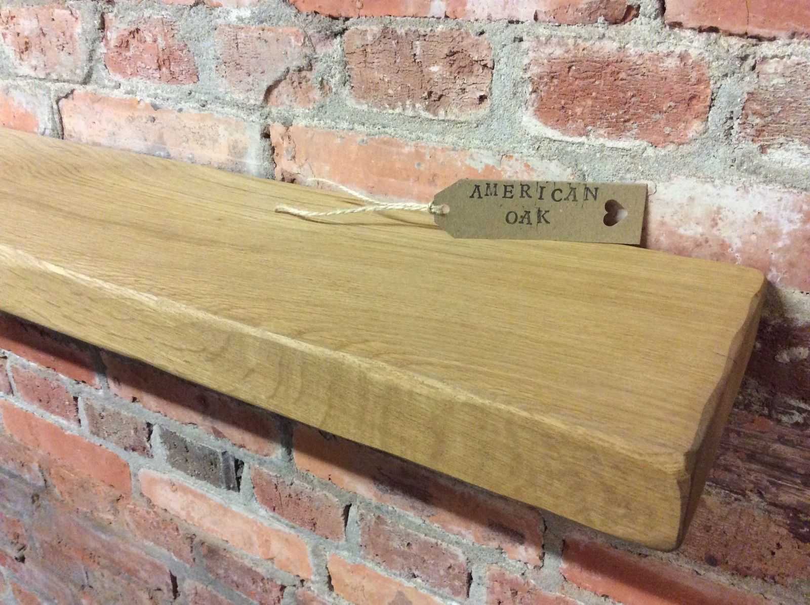 solid oak floating chunky shelf 8 x 2